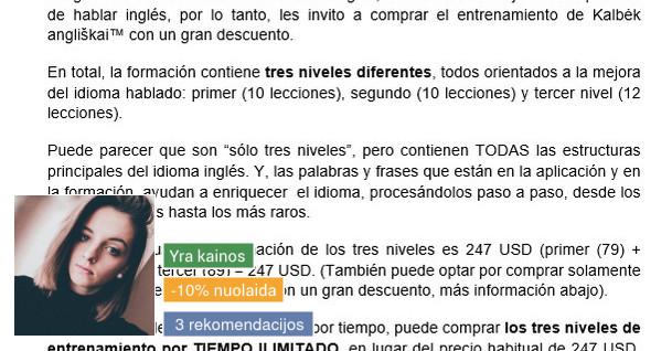 Vertimai Anglų, Ispanų kalbomis