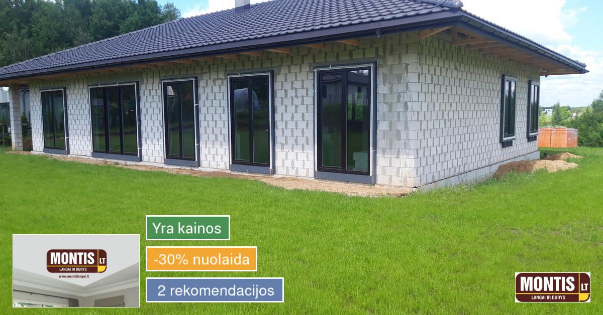 Plastikiniai, mediniai langai ir durys A+ energetinės klasės