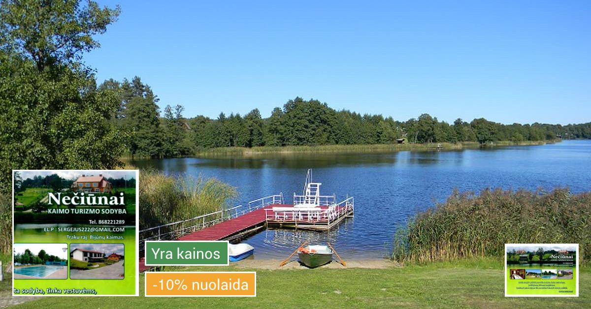 Puiki sodyba ežero krante Pirtis Kubilas