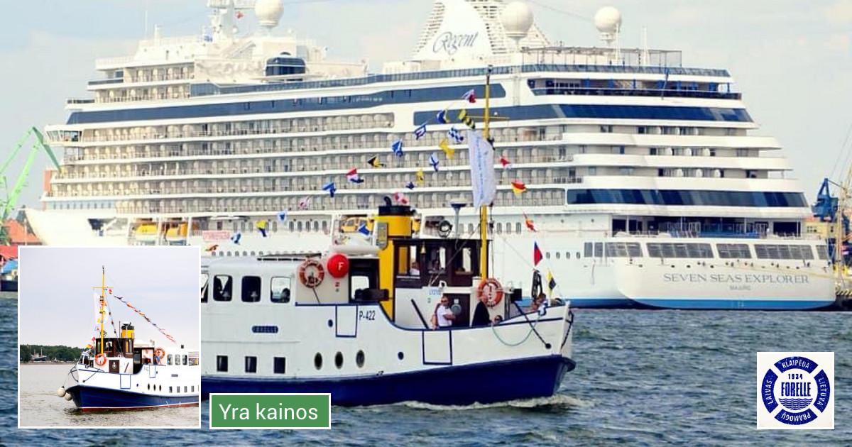 Šildomo Laivo nuoma Klaipėdos uoste