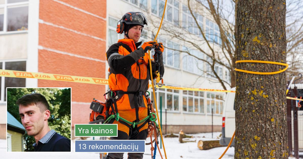 Medžių pjovimo ir genėjimo paslaugos. Sodų genėjimas