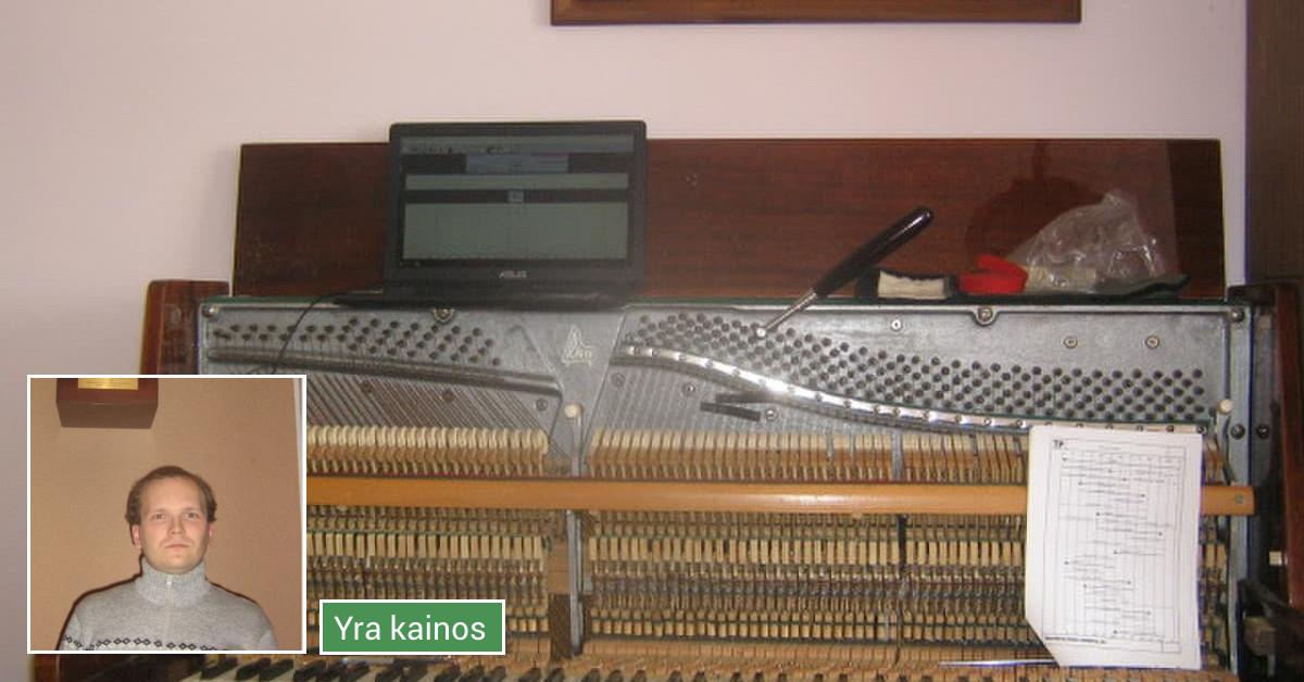 Fortepijonų ir pianinų derinimas.