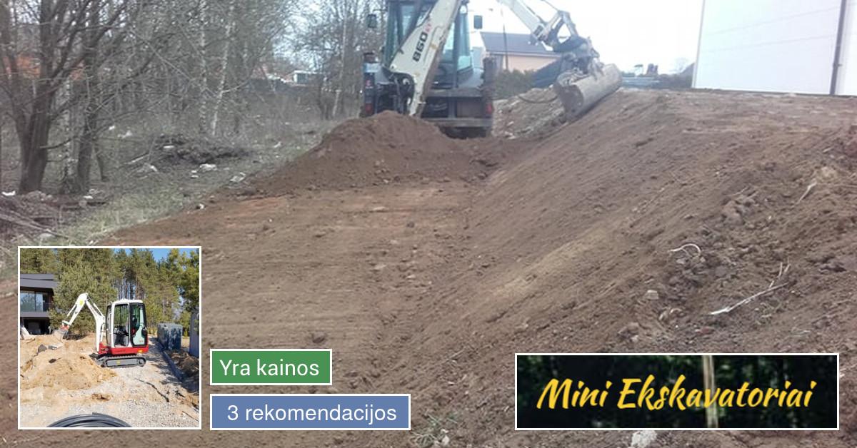 Mini Ekskavatorių Nuoma 8-659-07990, Bobcat Nuoma