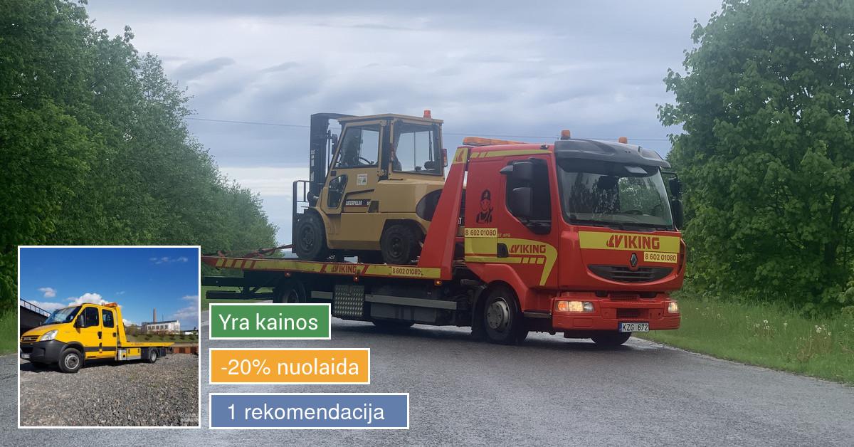 Traliukas Kaune ir Lietuvoje. Techninė pagalba kelyje