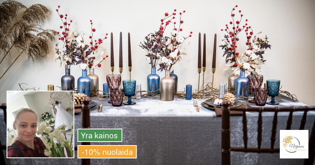 Floristika ir dekoras švenčių dekoravimas