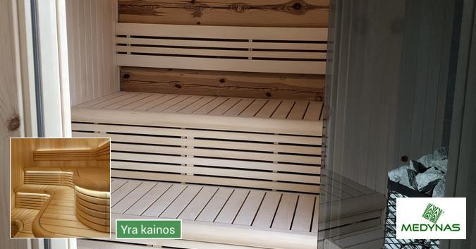 Pirties apdailos mediena, gultai, įrengimas ir aksesuarai