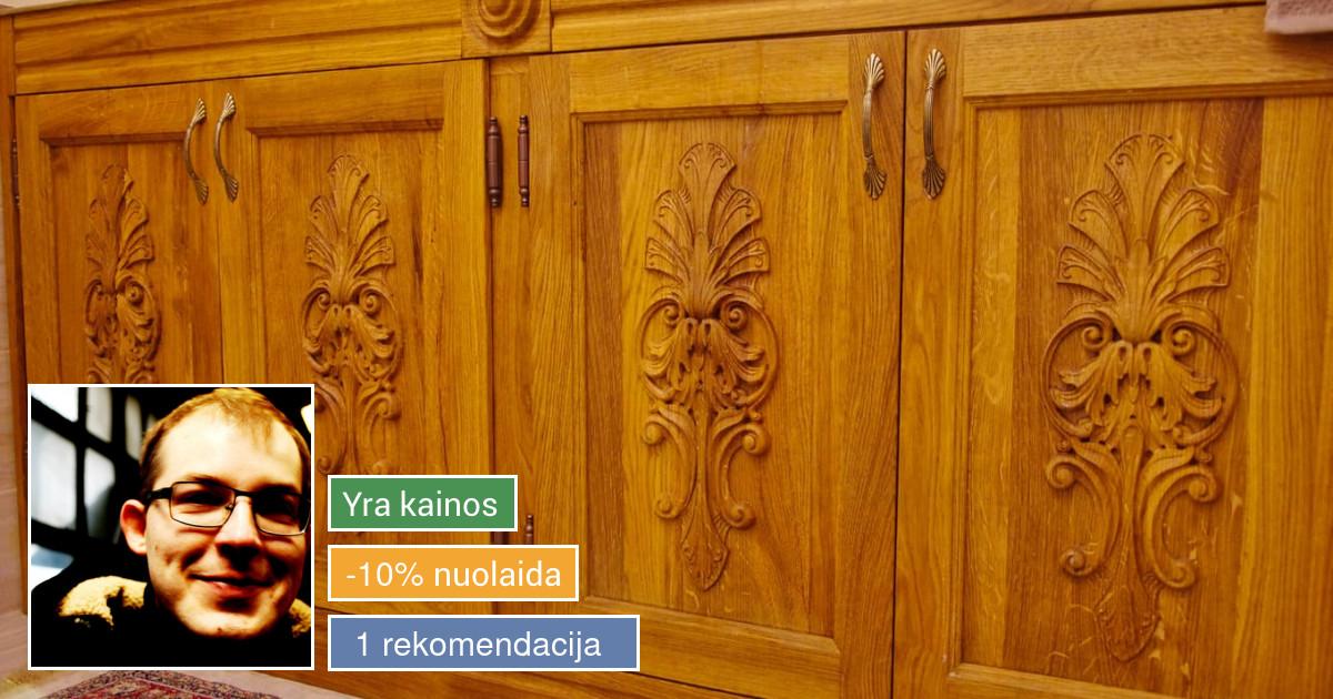Medinių baldų ir interjero detalių gamyba