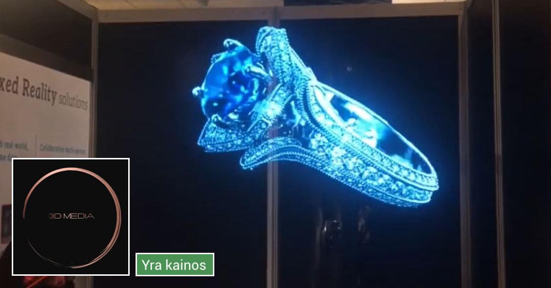 3D vaizdo projektoriai parodoms bei renginiams