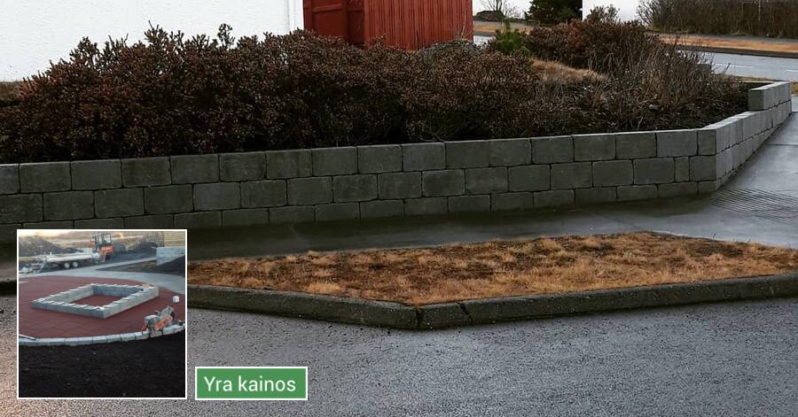Trinkelių klojimas, tvoru, terasų įrengimas.
