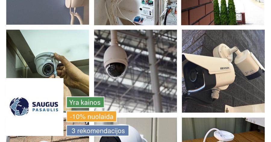 Vaizdo stebėjimo kameros, montavimas, servisas