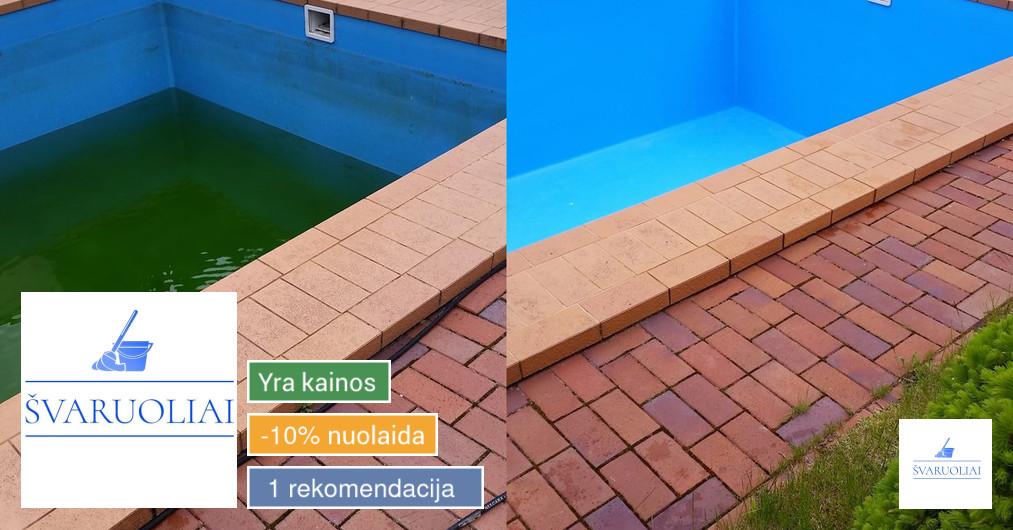 Baseinų valymas, baseino priežiūra ir aptarnavimas