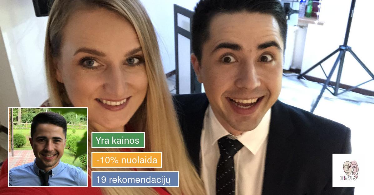 """Šventės vedėjai, dainininkai ir Dj """"Du Balsai"""