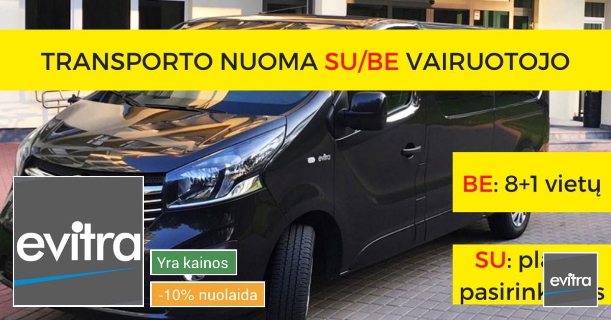 Mikroautobusų nuoma su/be vairuojo