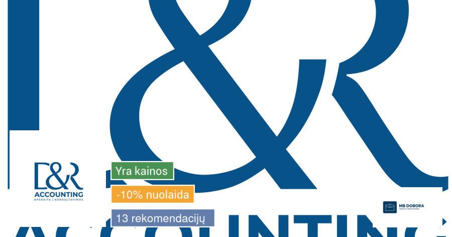 Buhalterinės apskaitos paslaugos visoje Lietuvoje!