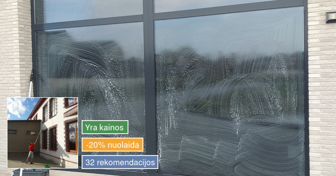 Kokybiškas langų valymas