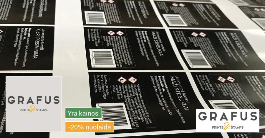Lipdukai, etiketės, plakatai ir plačiaformatė spauda