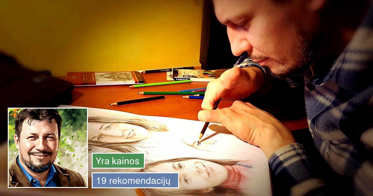 Portretai, šaržai iš nuotraukų / Portraits, caricatures