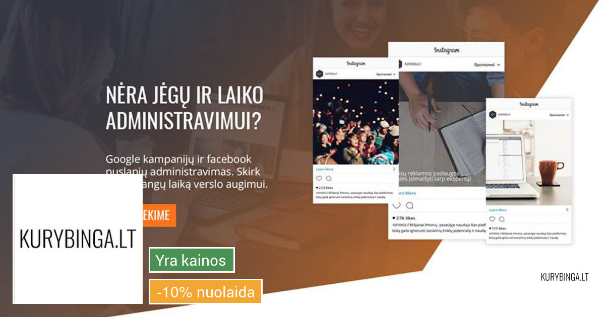 Facebook, Instagram, Messenger reklama, administravimas