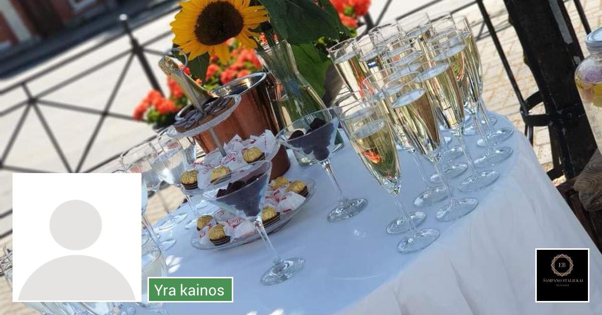 Šventė Stilingai - vaišių/šampano staliukas ir  aptarnavimas