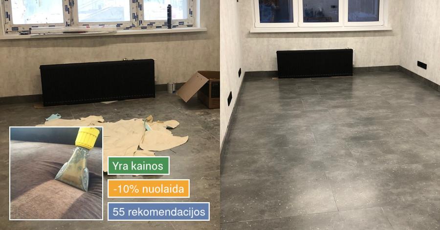 Cheminis giluminis baldų ir kilimų valymas