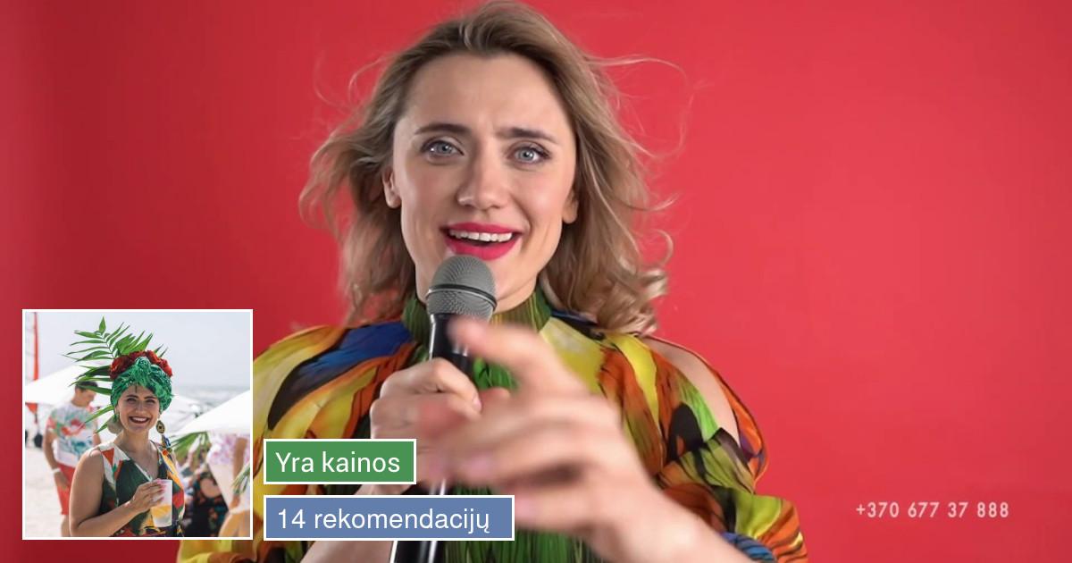 Renginių vedėja Jekaterina Zibireva