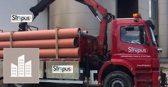 Savivarčio su kranu, krovinių gabenimas