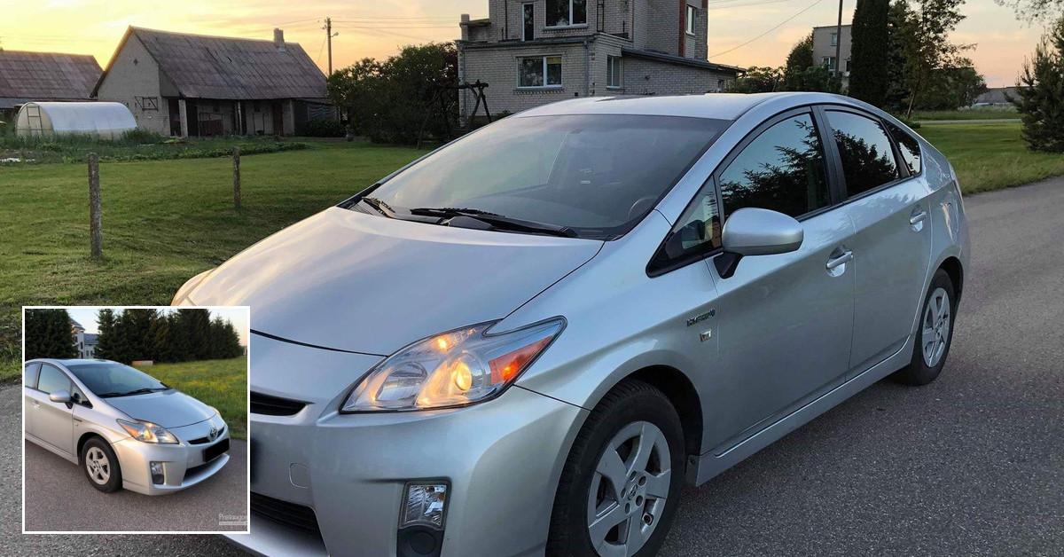 """II klasės Toyota Prius nuoma """"Su dujų įranga"""""""