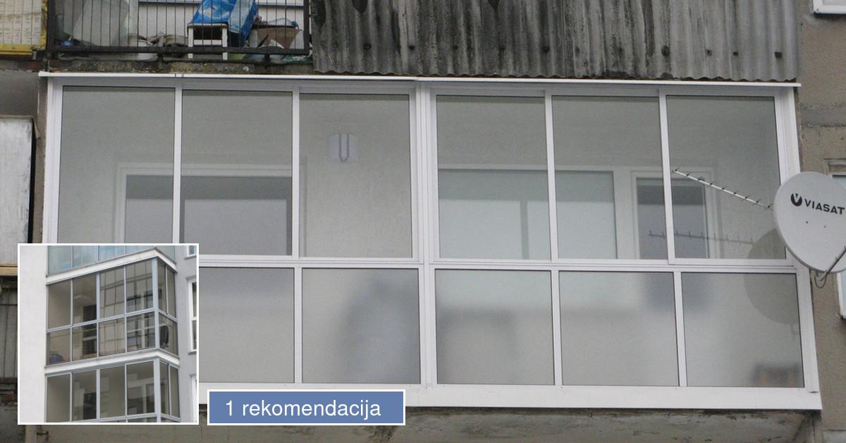 Balkonu stiklinimas aliuminio konstrukcijomis