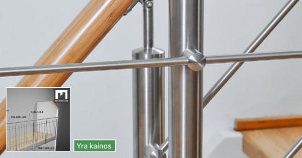 Nerūdijančio plieno detalės turėklams, stiklams