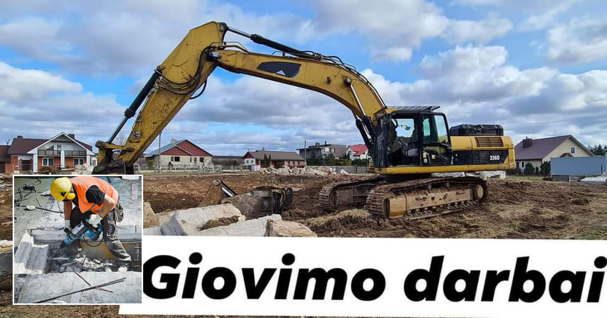 Griovimo ir rekonstrukcijos darbai. Kaunas.