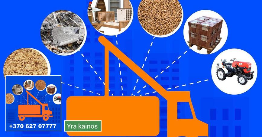 Griovimo darbai, fiskaras, konteinerių nuoma