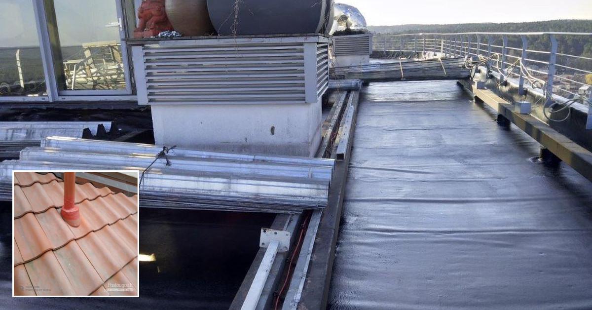 Plokščių stogų, terasų, pamatų hidroizoliavimas, r