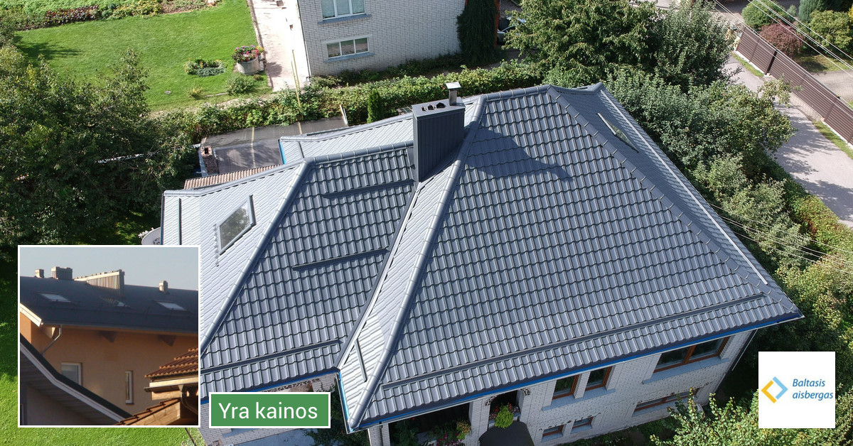 Karkasiniai namai , stogų dengimas