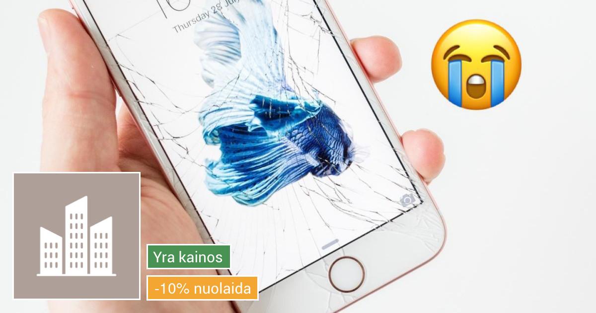 IPhone ekrano keitimas užtrunka iki 1h