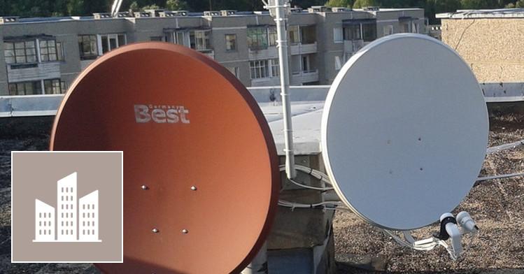 Palydovinės Sat, vietinės TV, radio antenų montav.