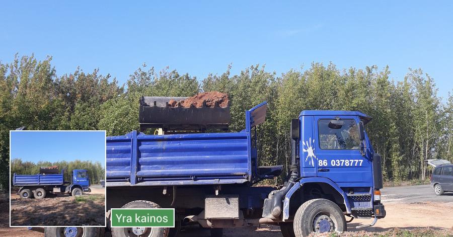 Šiukšlių, statybinių, žaliųjų atliekų išvežimas, griovimas