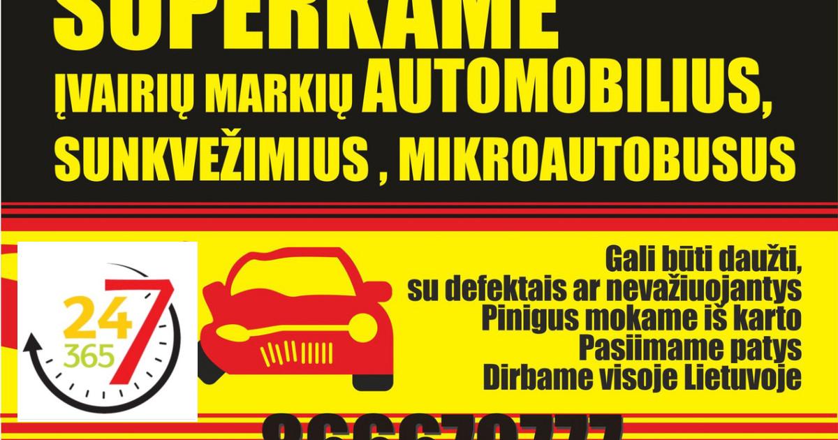 Automobiliu supirkimas Kaune ir visoje Lietuvoje