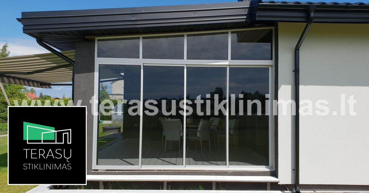 Terasų stoginių stiklinimas aliuminėmis sistemomis