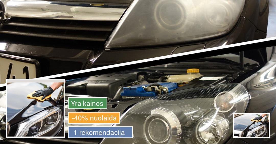 Automobilio ir žibintų poliravimas/nano danga