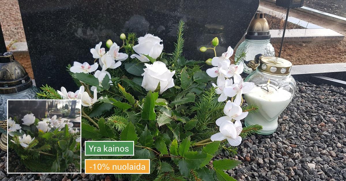 Prižiūriu kapus laistau, sodinu gėles, raviu ir t.