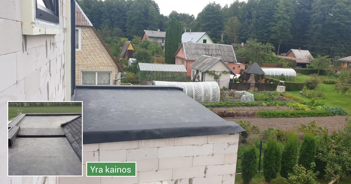 Pastatų, balkonų, pavėsinių, garažų stogų hidroizoliacija