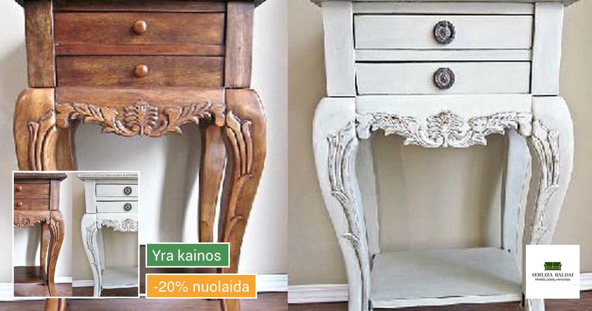 Baldų dažymas , medinių baldų restauravimas
