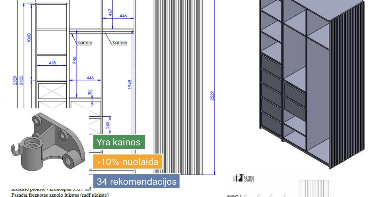 2d - 3d brėžiniai, gaminių vizualizacijos