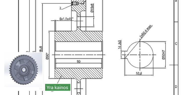 Projektavimas/braižymas Autocad, Solidworks