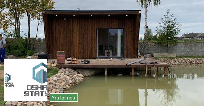 Karkasiniu namu statyba,pamatu įrengimas.