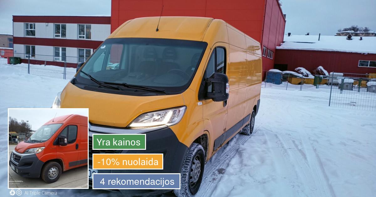 Krovininio transporto nuoma, nuo13 eurų para.