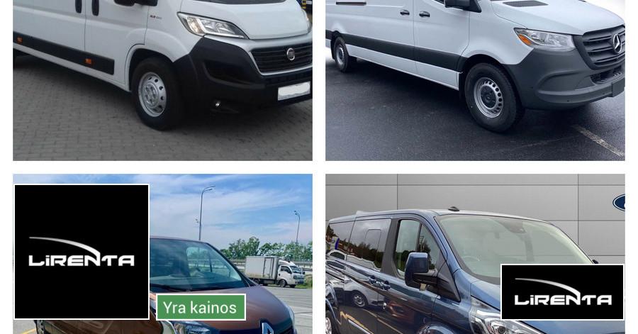 Keleivinių, Krovininių, Lengvųjų automobilių nuoma