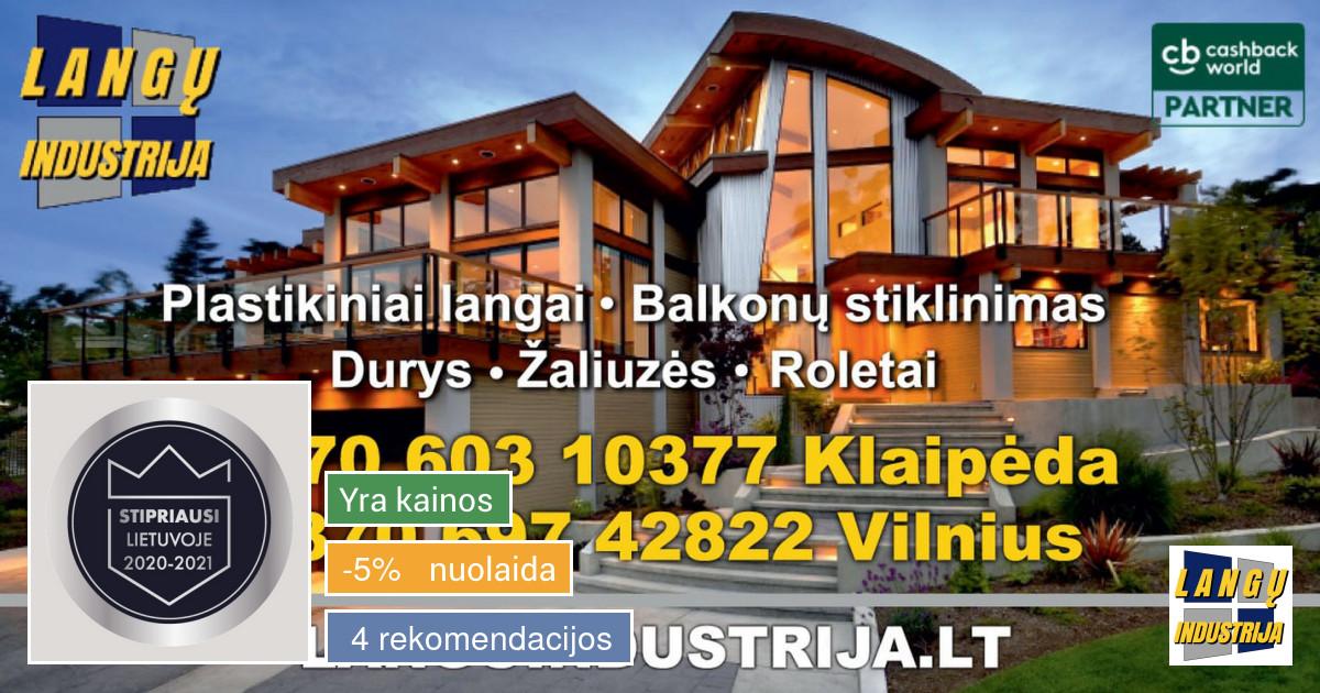 Klaipėdos-langai. Vilniaus-langai. *balkonų stiklinimas*