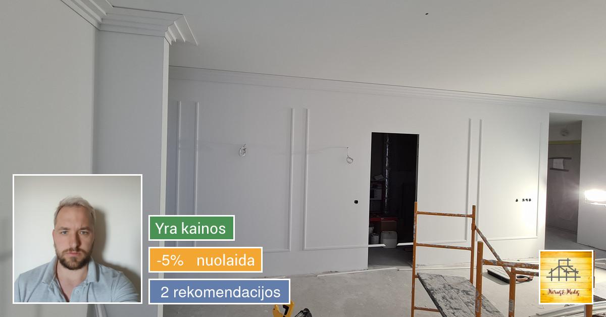 Staliaus Darbai, Gipso montavimas , Terasos, Pavėsinės