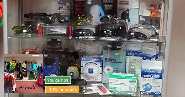 Prekyba darbo drabužiais ir saugos priemonėmis
